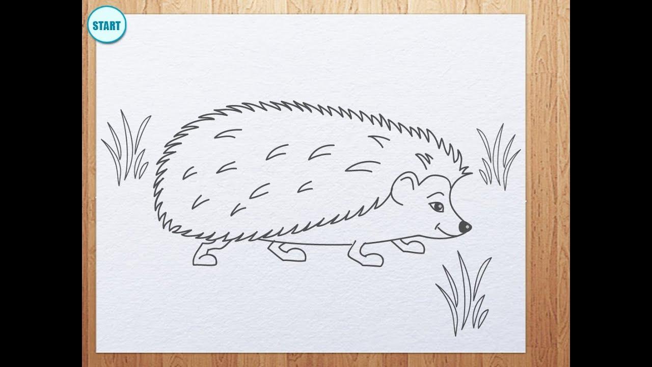 Фото как рисовать ежика