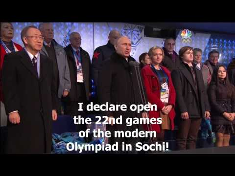 Vladimir Putin's Sochi Olympics Opening Ceremony speech translated