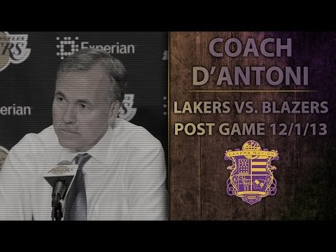 Lakers vs. Blazers: Coach D'Antoni on Jordan Farmar's Injury, Robert Sacre's Career High Night