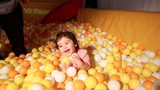BABY STUCK IN BALL PIT!!!