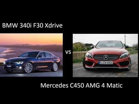 BMW 340i xdrive F30 326 ps vs Mercedes C450 AMG 4 matic 367 ps acceleration