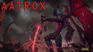 League of Legends: Aatrox First Look Champion Spotlight - Guide (new champion)