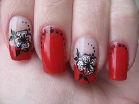 One Stroke Nail Art Flower Easy Pretty Nails Video