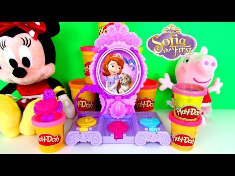 Play-Doh Disney Junior Princess Sofia The First Amulet & Jewels Vanity Playset Fun Family Toy Review