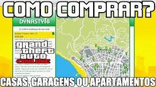 GTA V ONLINE Como Comprar CASAS GARAGENS