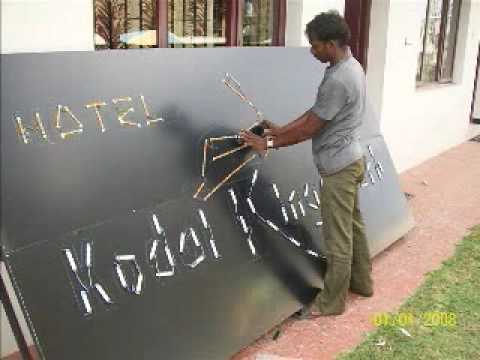 Making of LED Sign Board