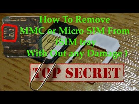micro sim stuck in sim slot
