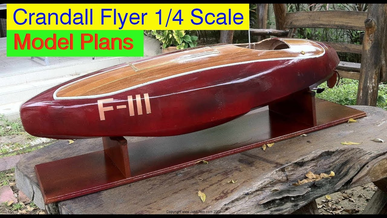 "Bruce Crandall ""Flyer"" 1936 Stepped Hydroplane - RC 1/4 Scale Model Frame Kit - YouTube"
