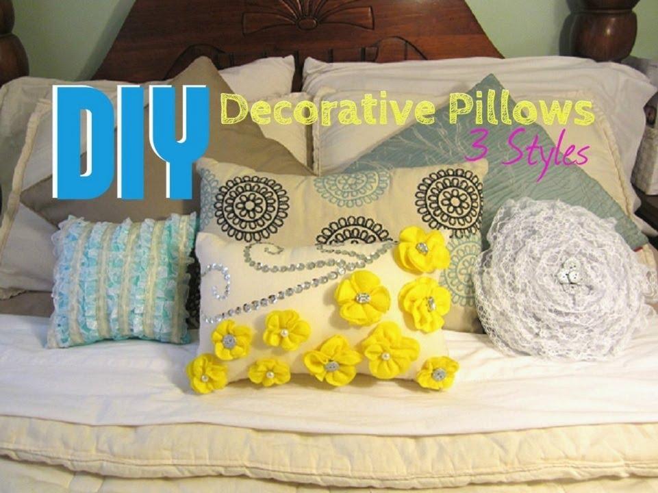 DIY: Decorative Pillows- 3 Styles - YouTube