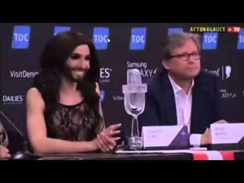 Conchita Wurst :επίκληση στον Σατανά στην Eurovision! / Calling Satan