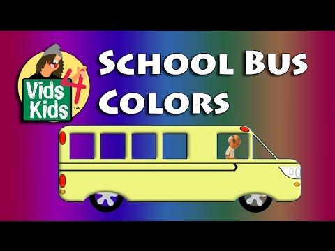 School Bus Colors - Colours For Kids Detour Colors