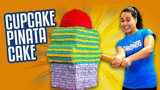 Giant Cupcake Piñata Cake Filled with MINI Fingerlings   How To Cake It