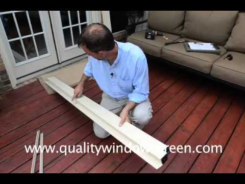 Measuring and installing retractable screen doors and roll for Easy install retractable screen door