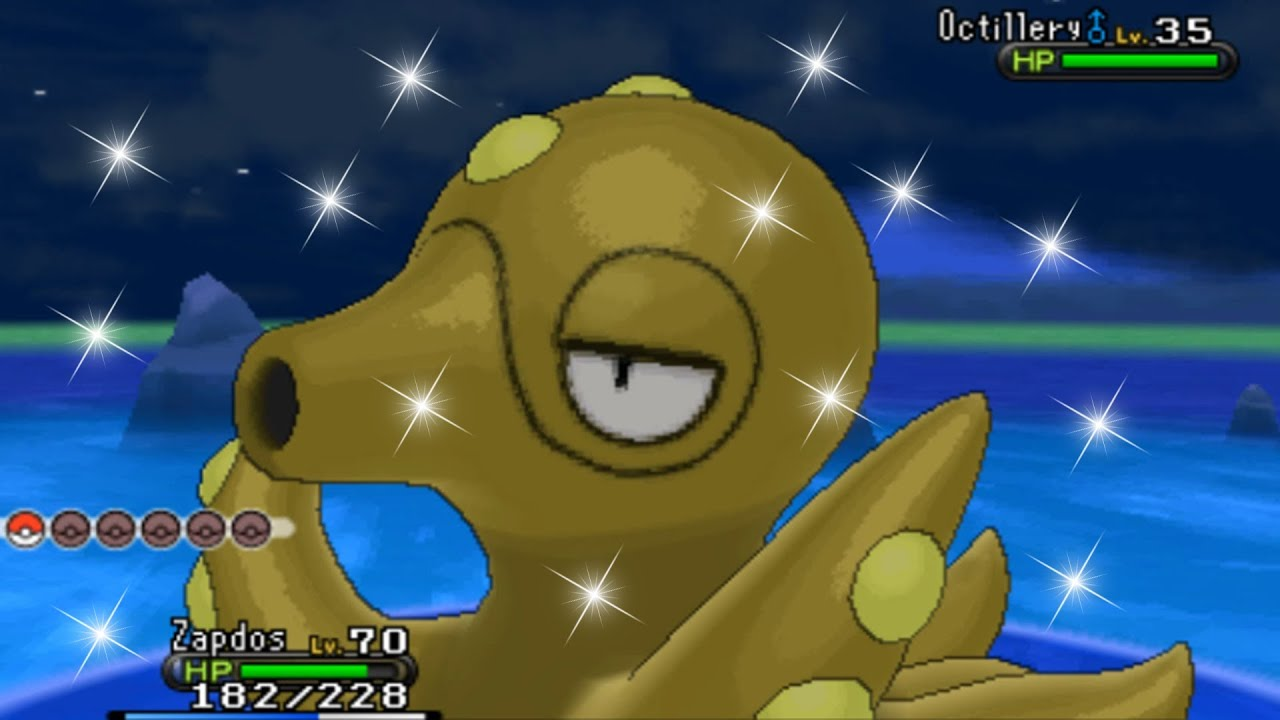 Pokemon X and Y - Catching Shiny Octillery! - YouTube