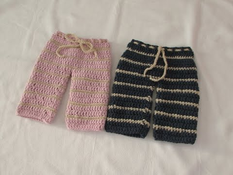 Very Easy Crochet Pants / Trousers / Shorts Tutorial - Any Size