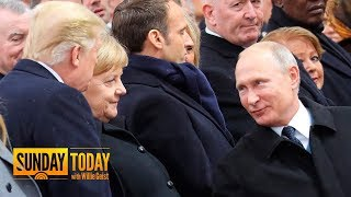 President Trump, Vladimir Putin Greet Each Other In Paris | Sunday Today