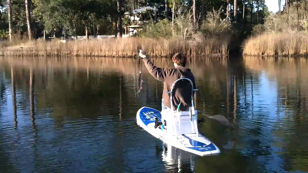 Bote Sup Fishing Winter Afternoon Paddle In Destin Youtube