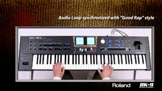 Audio loop synchronized with rap style on Roland BK9.