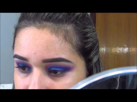 Maquiagem roxo e azul inspiração