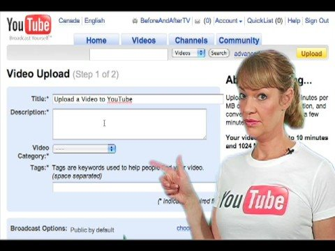 How to Upload A Video to YouTube - YouTube: www.youtube.com/watch?v=9w-gQAwS2uc
