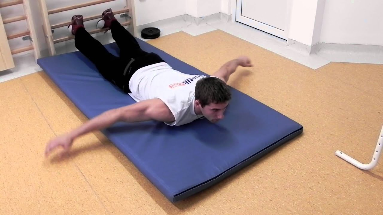 Kyphosis treatment - back extensions with arm movement ...