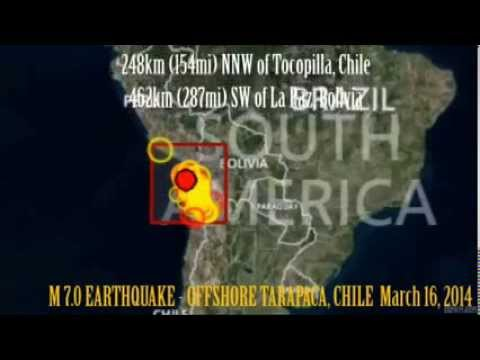 M 7.0 EARTHQUAKE - OFFSHORE TARAPACA, CHILE March 16, 2014