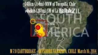 M 6.7 EARTHQUAKE OFFSHORE TARAPACA, CHILE March 16, 2014