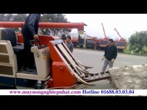 Giao máy gặt tăng đơ cho khách hàng hiệp hòa bắc giang Kubota R1 351 Nhật Bãi