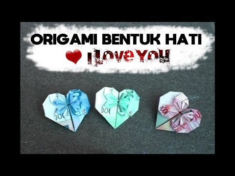tutorial origami bentuk hati make a heart shaped origami
