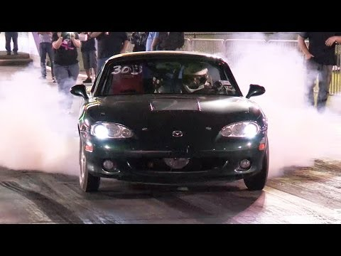 Battery Powered Miata outruns a Mustang!!!