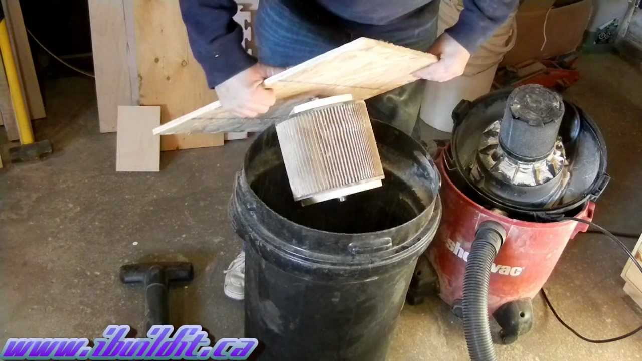 Make A Shop Vac Filter Cleaner Youtube