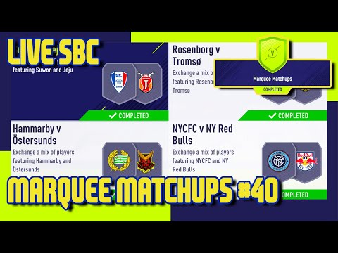 FIFA 18 - Marquee Matchups SBC #40 & Pack Opening