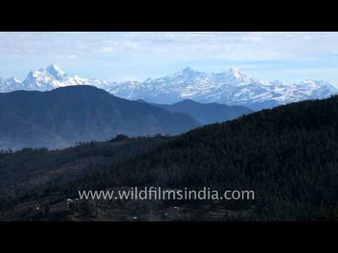 Panoramic view of himalayan mountains from Kuppad, Himachal