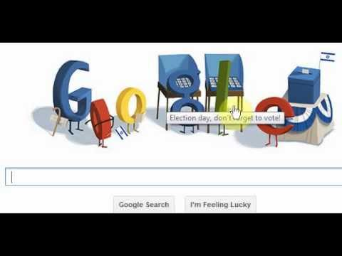google doodle election day 2013 Israel -    2013 
