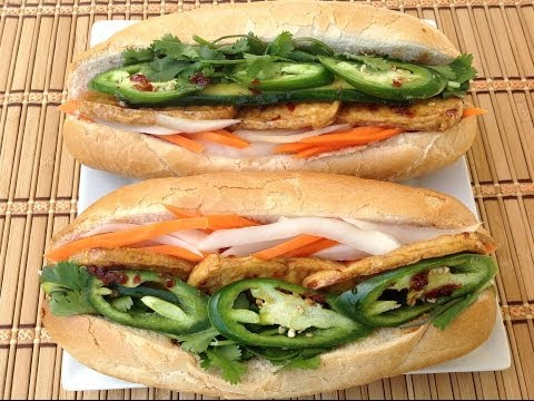 Banh Mi Dau Hu-Vietnamese Tofu Sandwich Vegetarian Recipes-Pickled Carrots Daikon