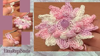 How To Crochet Flowers Free Patterns Tutorial 73 Crochet