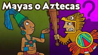 Qué diferencia a los aztecas de los mayas?