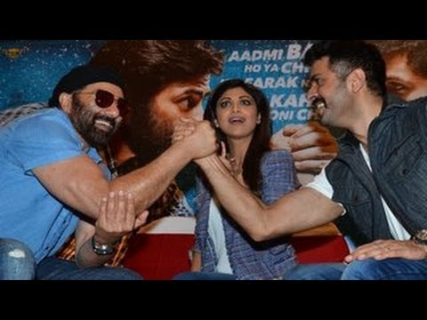 Sunny Deol FIGHTS with Harman Baweja @ Dishkiyaaon Press Conference