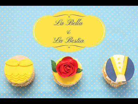 CUPCAKES DE LA BELLA Y LA BESTIA (IDEA FÁCIL) - BAKING DAY