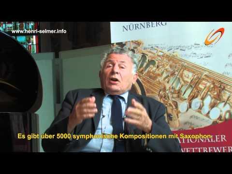 Interview Jean-Marie Londeix über SELMER Saxophone und den Bumcke-Wettbewerb