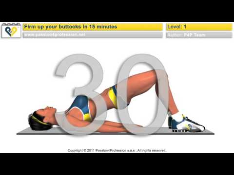 Firm up  toning buttocks workout   Level 1   No Music