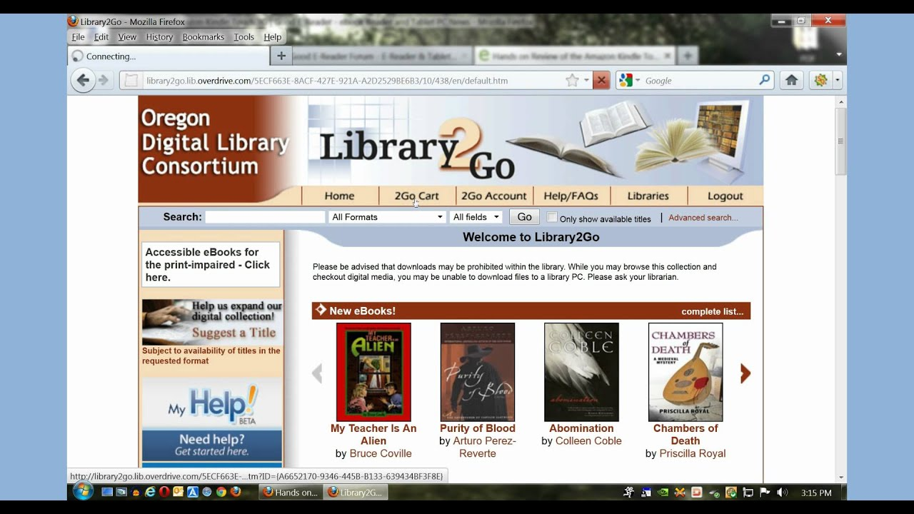overdrive how to download from library
