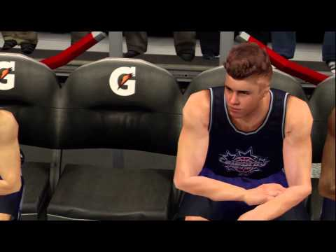 Video of Justin Bieber in NBA 2K13!