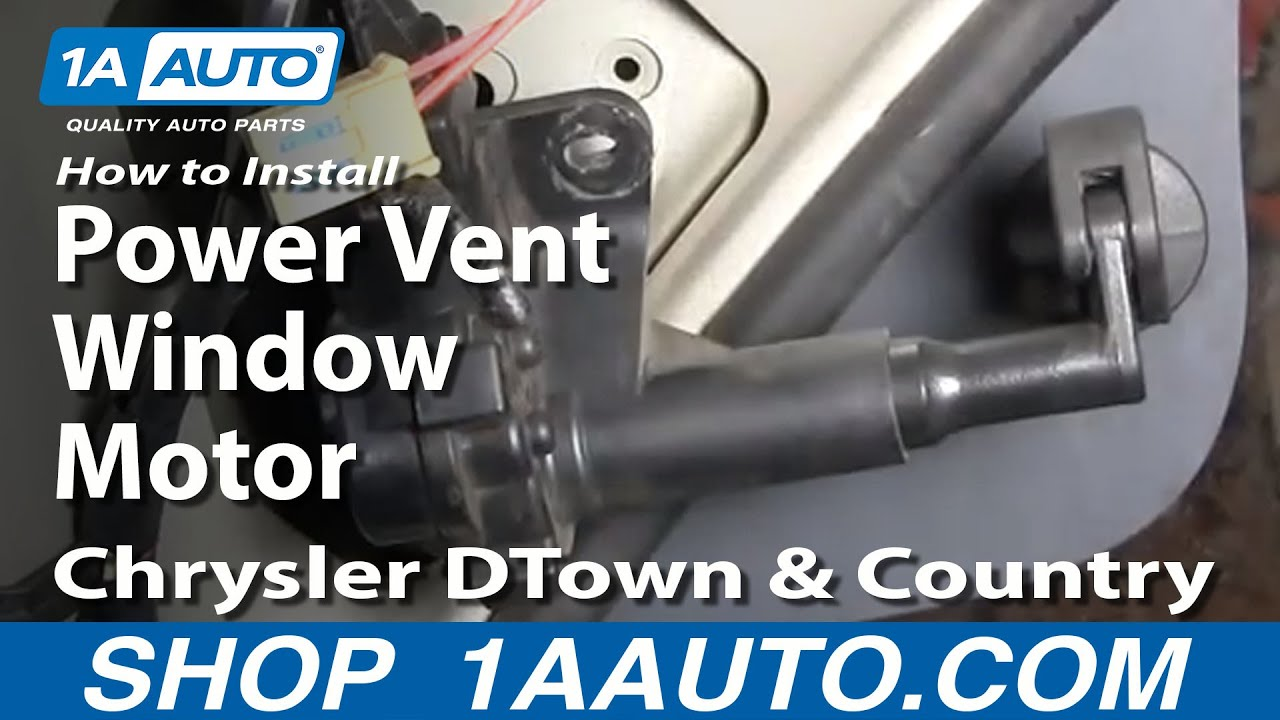 How To Install Replace Rear Power Vent Window Motor