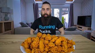 ONE MAN VS 100 KFC HOT WINGS | BeardMeatsFood