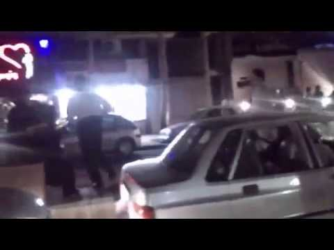 Iran Rasht 18 June 2013 Police attacks people at their celebration for Iran worldcup qualifire