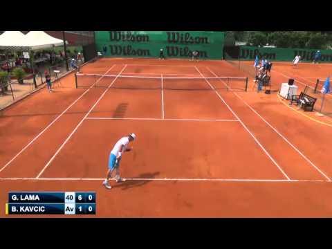Gonzalo Lama vs Blaz Kavcic - 1st - Challenger de Vicenza 2014