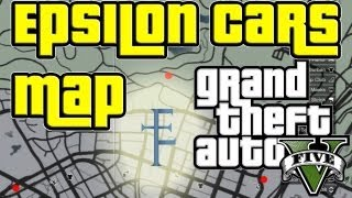 GTA 5 Map To All The Epsilon Car Locations Where To