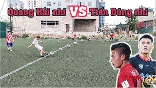 Thử Thách Bóng Đá sút Penalty Quang Hải Nhí VS Bùi Tiến Dũng Nhí U23 Việt Nam Tương Lai