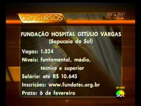 Concurso público para a Fundação Hospital Getúlio Vargas